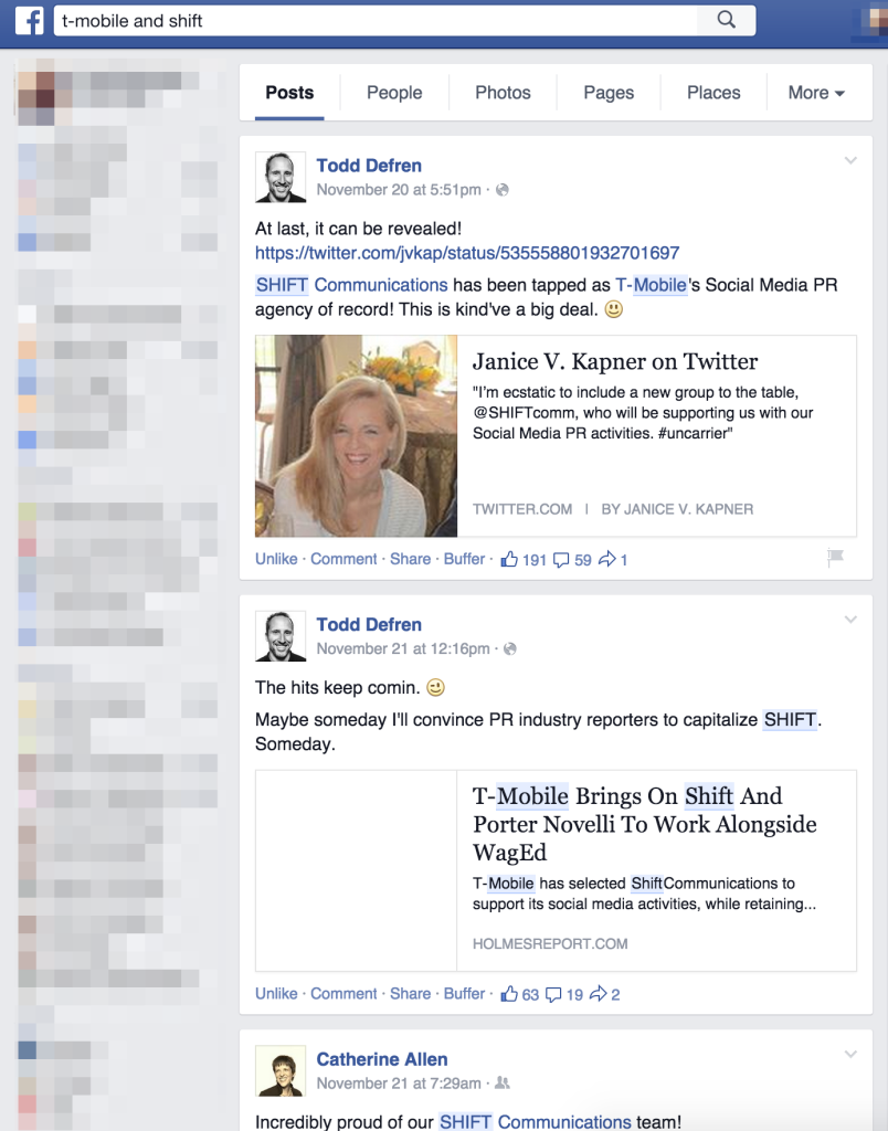 T-Mobile and SHIFT on Facebook