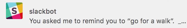 active at work slackbot reminder