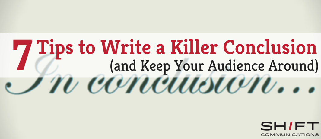 what to write in a conclusion