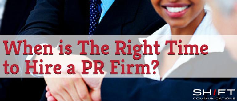 hire a PR firm