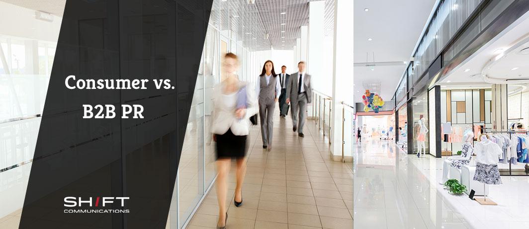 Consumer PR and B2B PR