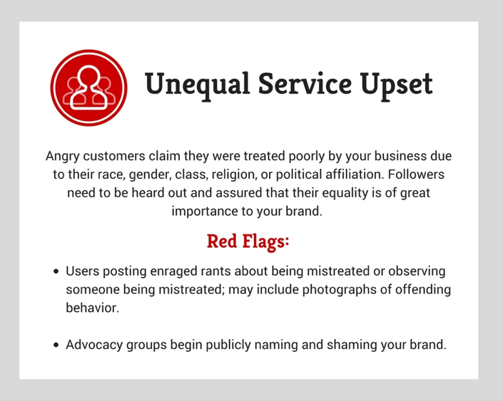 Social Media Crisis Unequal Service