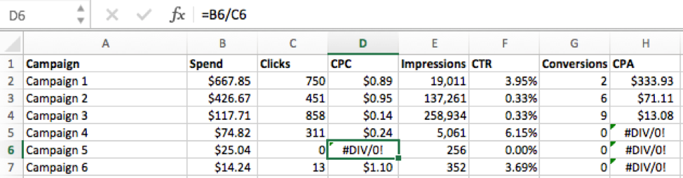 EXCEL SERIES: How to Avoid Temporary DIV/0! Errors with the Excel IF ...