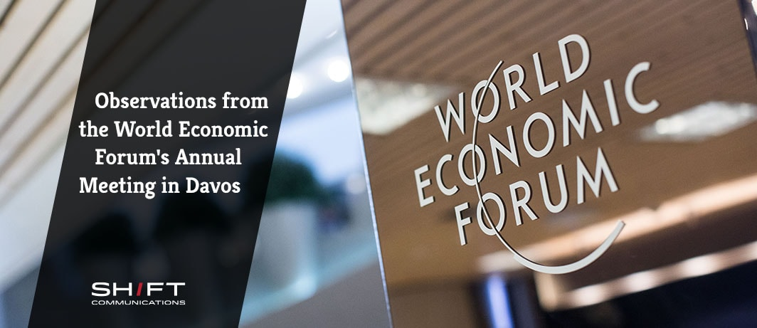 Observations from the World Economic Forum's Annual Meeting